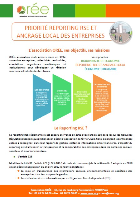 Couverture Flyer Reporting RSE et Ancrage local