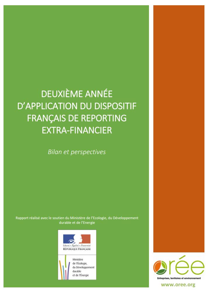 Couverture rapport Reporting extra financier 2e année