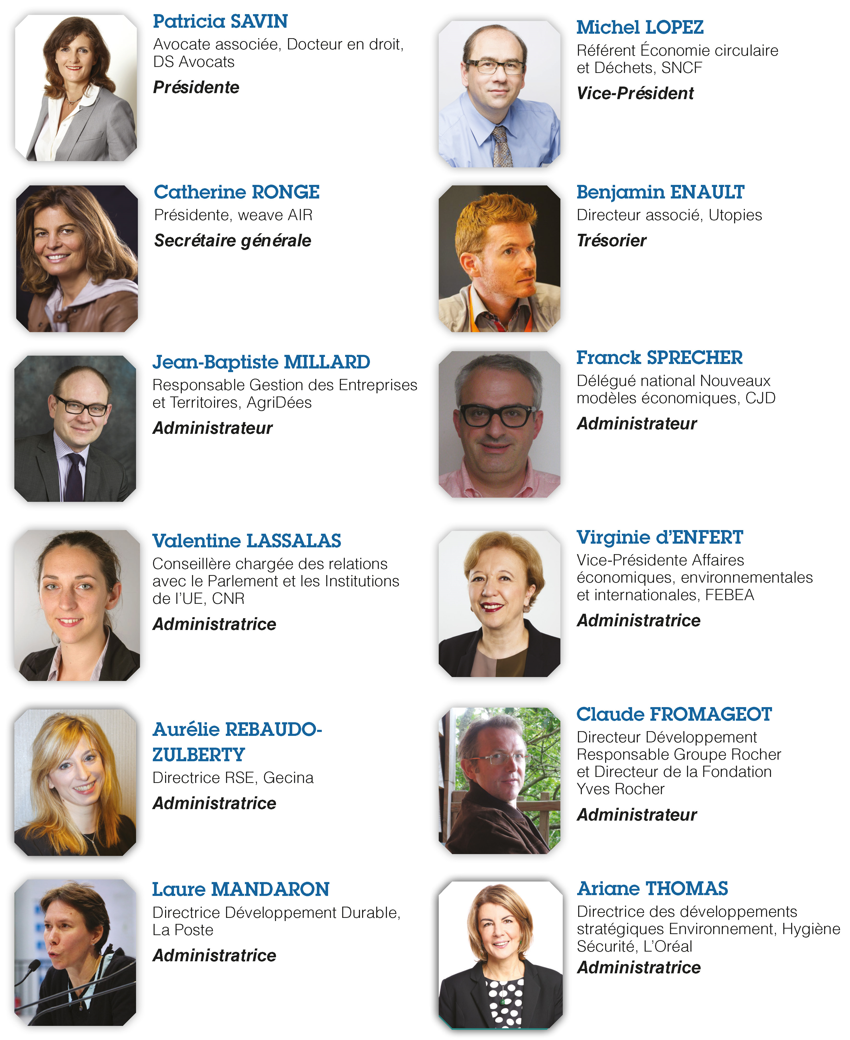 Conseil d'administration OREE 2017